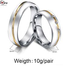 wedding bands for him and aliexpress buy nfs pair gold silver custom alliance