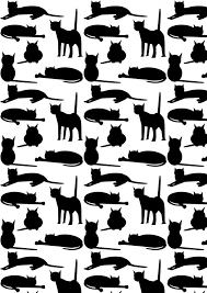 free cat images free digital cat pattern black and white