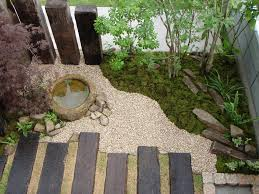 japanese style garden accent wood and rock zen garden