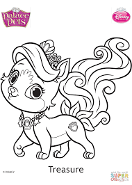 palace pets treasure coloring page free printable coloring pages
