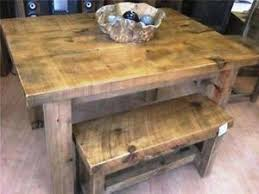 Reclaimed Wood Dining Table And Chairs Rustic Dining Table Ebay
