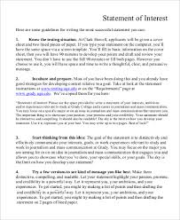 cover letter statement of interest 28 images 7 statement of