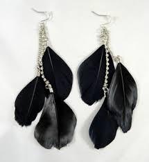feather earrings online india black feather earrings ebay