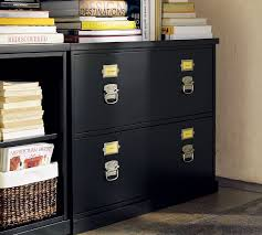 Black File Cabinets Bedford Lateral File Cabinet Black Pottery Barn