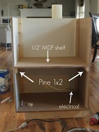 wood wall mounted simple diy microwave shelf under cabinet for