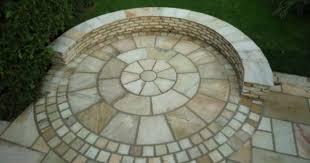 Circular Patio Kit by Great Brick Patio Nice Alternating Pattern And Transition Around