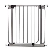 Child Stair Gates Shop Dreambaby 32 In X 30 In Silver Metal Child Safety Gate At