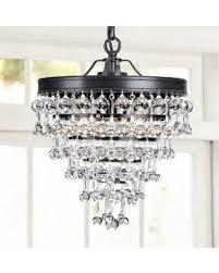 Antique Black Chandelier Fall Savings On Claudia 3 Light Crystal Glass Drop Chandelier In