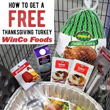 winco free turkey with 100 purchase thanksgiving specials