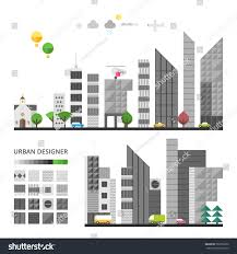 city elements make your own city stock vector 583736650 shutterstock