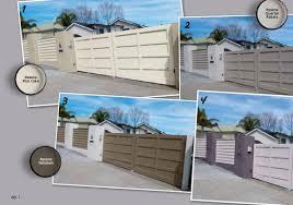 two tone colour schemes for fences