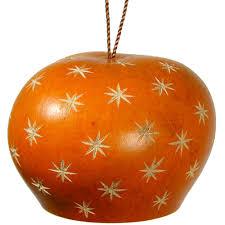gourd ornaments with small star designs fair trade handmade