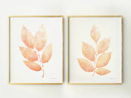 Prints For Home Decor Peach Leaves Printable Wall Posters Diy Home Decor Art Prints