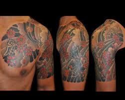 beautiful chest half sleeve tattoos for and