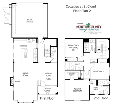 3 bedroom 2 bath 2 car garage floor plans cottages at st cloud floor plans new homes in oceanside