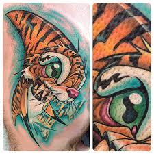 cool tiger shark cartoon tattoo design for men
