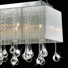 rectangular crystal chandelier with shade brizzo lighting stores
