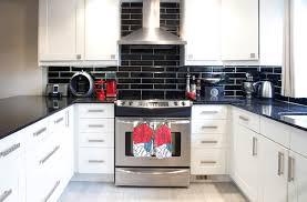 black kitchen tiles ideas adorable black subway tile backsplash houzz in kitchen
