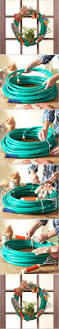 diy garden hose wreath diy projects usefuldiy com spring and