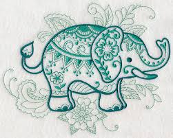 mehndi elephant design l4617 from www emblibrary com machine