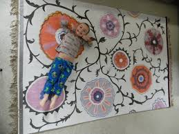 Rug Painting Ideas Gorgeous Shiny Things How To Make A Rug For Like Nothing