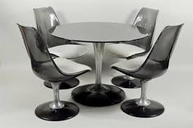 chromcraft table and chairs tulip table and lucite chairs by chromcraft set of 5 by eero