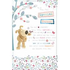 boofle special person happy birthday greeting card cards love