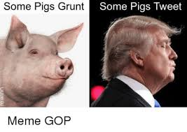 Gop Meme - some pigs grunt some pigs tweet meme gop meme on me me