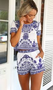 matching sets porcelain inspired floral matching sets jassie line