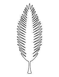 coconut tree leaf pattern use the printable outline for crafts