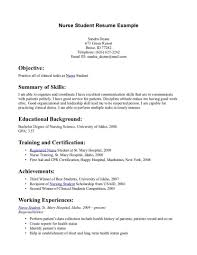 Sample Medical Student Resume Cv Sample Medical Nurse