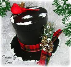 cool and opulent top hat decorations tree chritsmas decor