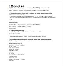 Cable Installer Resume Sample by Hvac Technician Resume 17 Hvac Technician Sample Resume Template