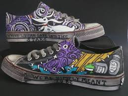 nightmare before and sally shoes by rachelliles352