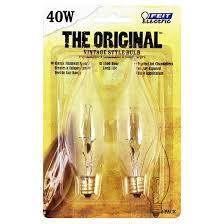 feit 40 watt vintage chandelier flame tip candelabra base