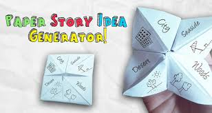 what to write on a paper fortune teller make your own paper story idea generator imagine forest paper story idea generator for kids imagine forest