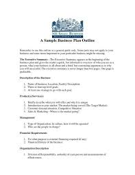 business plan example 9 business plan templates free sample