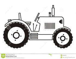 tractor coloring stock images image 38058004