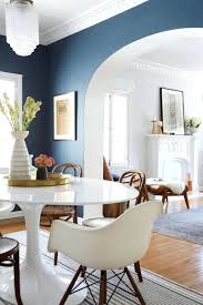 awesome nice blue reectangular dining table with white dining