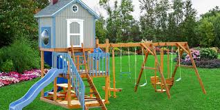 Swing Set For Backyard by Wood Swing Sets Backyard Structures By Yardworks