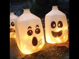 home made halloween decorations homemade halloween decorations ghost lanterns youtube