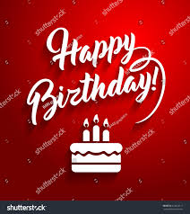 Birthday Card With Bars Happy Birthday Lettering Text On Red Stock Vector 412624117
