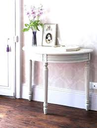 small half moon console table with drawer half circle console table mirrored console table small semi circle