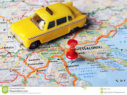 Greece On Map by Katerini Greece Map Taxi Stock Photo Image 48477112