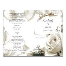 wedding program printing wedding program 6275 with printing pack of 50 wedding programs