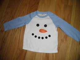 infant toddler boys snowman applique