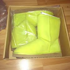 s green ugg boots 44 ugg boots neon green ugg boots from crissi s closet on