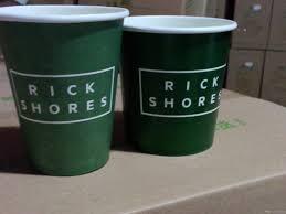 2017 coffee single wall paper cup customized logo design offset