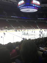rogers arena section 108 home of vancouver canucks