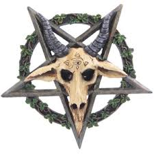 Satanic Home Decor Satanic Skull U0026 Pentagram Wall Plaque Gothic Fantasy Gothi